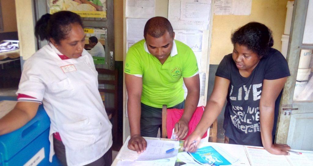 Andrianasolomanana Mahefa at a health facility