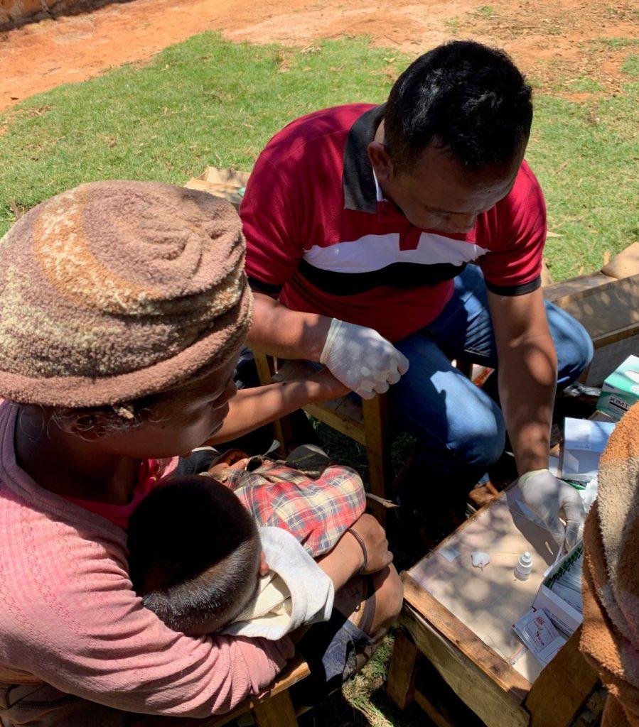 Malaria screening in Madagascar